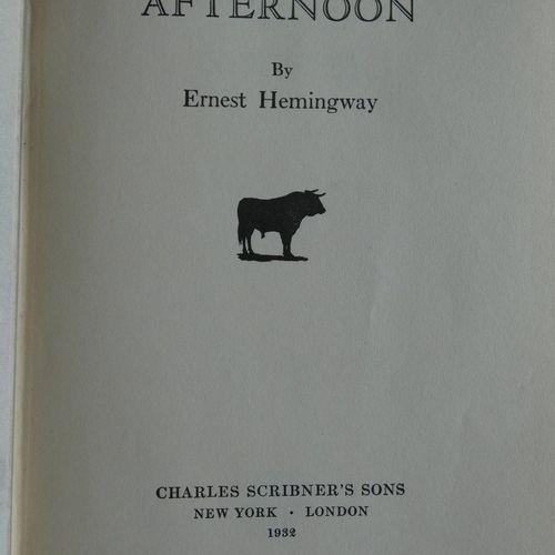 HEMINGWAY (Ernest) . Death in the afternoon.. New York, London, Charles Scribner…