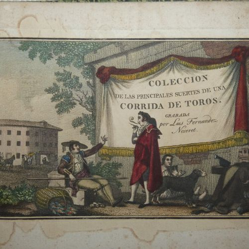 NOSERET (Luis Fernandez). Collection of the main suertes of a bullfight. S.L., N…