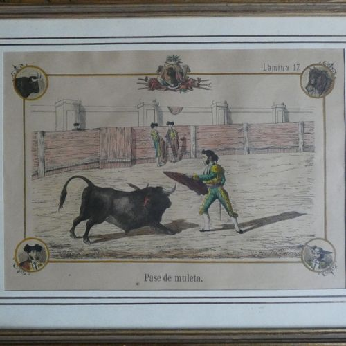 TOVAR (B.). La Fiesta espanola. Seville, no publisher, [ca 1870]. Set of 15 plat…
