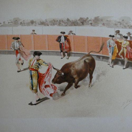 PEREA (D.). Corrida de toros. Madrid, Boronat y Satorre, [ca 1894]. Oblong folio…