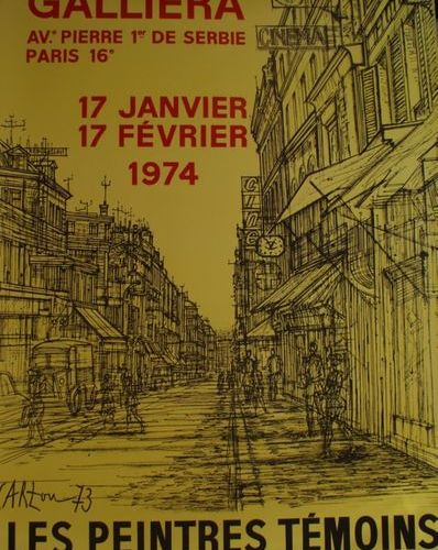 CARZOU Jean (1907 2000) (8 affiches) MUSÉE GALLIÉRA. LES PEINTRES TÉMOINS DE LEU…