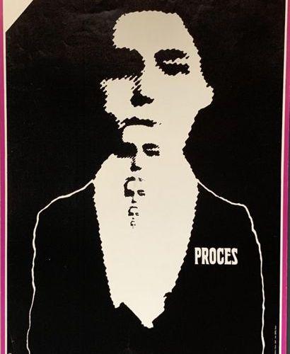 CIESLEWICZ Roman (1930 1996) KAFKA PROCÈS Opus Affiches, imp. Serg, Paris 1968 8…