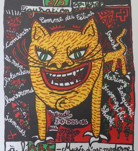 COMBAS Robert (Né en 1957) Musée d'Art Moderne, Paris.COMME DES FÉLINS.1984 1985…