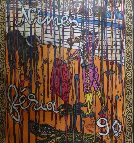 COMBAS Robert (Né en 1957) FÉRIA de NÎMES.1990 Imprimerie Arti (offset) Robert C…