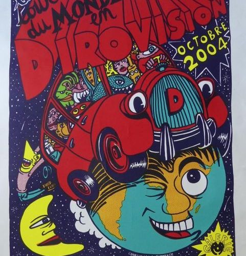 DI ROSA Hervé (Né en 1959) LE TOUR DU MONDE EN DIROVISION. 2004 Pop Galerie Sign…