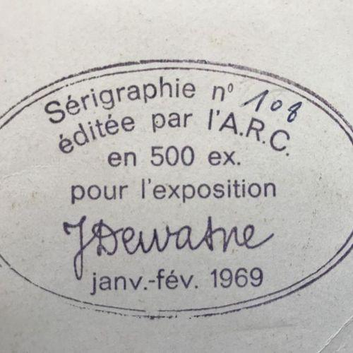 DEWASNE JEAN (1921 1999) COMPOSITION Sérigraphie Editée par l'A.R.C Porte au dos…