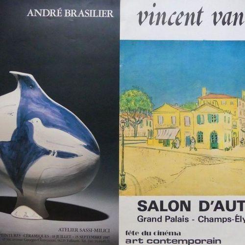 DIVERS (11 affiches et affichettes) CHAGALL (2) BUFFET (2) TOULOUSE LAUTREC CÉZA…