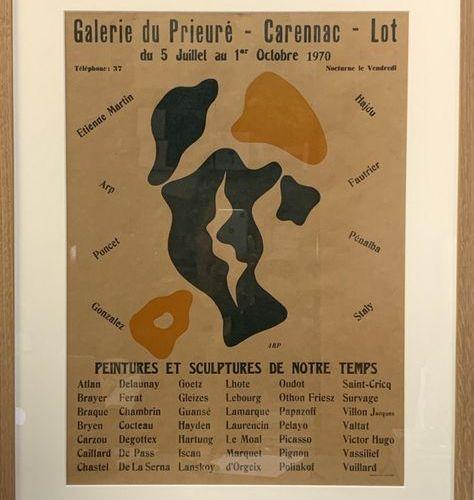 """HANS ARP (1861 1966) GALERIE DU PRIEURÉ.""""Peintures et sculptures de notre temps""""…"""