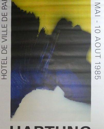 Hans HARTUNG (1904 1989) HOTEL DE VILLE de PARIS.1985 Imp.Union, Paris 173 x 120…