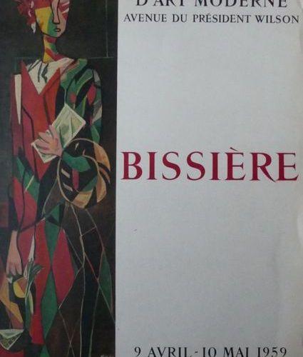 BISSIÈRE Roger (d'après) MUSÉE D'ART MODERNE, PARIS, APRIL MAY 1959 Imprimerie M…