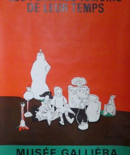 JANSEM Jean (1920 2013) (2 affiches) LES PEINTRES TÉMOINS DE LEUR TEMPS.Musée Ga…