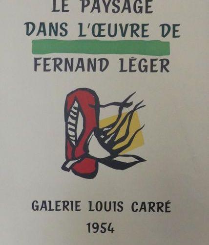 """LÉGER Fernand (1881 1955) Galerie Louis Carré. """"LE PAYSAGE DANS L'OEUVRE de Fern…"""