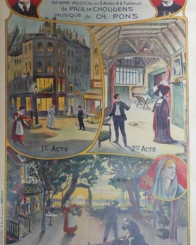 DIVERS ( 5 Affiches) TCHERKO LA HUSSARDE BILLY BILL and MOURETTE (2) Imp.Chouden…