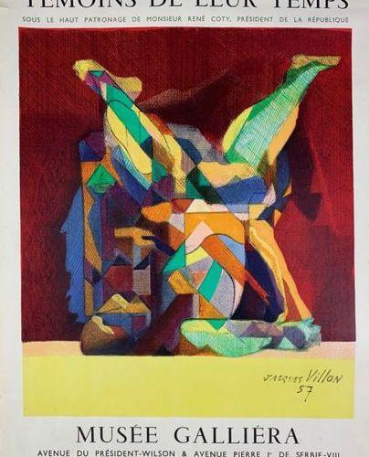 LES PEINTRES TÉMOINS DE LEUR TEMPS (3 affiches) BRAQUE Georges LÉGER Fernand VIL…