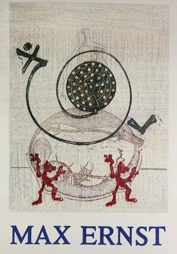 Max ERNST (1891 1976) (2 affiches) GALERIE DU CHAPITRE et GALERIE CHAVE Imp.Guil…