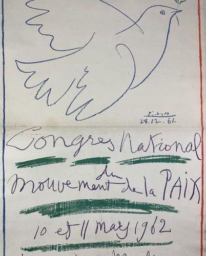 PICASSO Pablo (1881 1973) (2 affiches) CONGRèS MONDIAL du MOUVEMENT de la PAIX, …