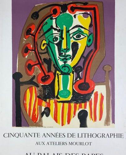 PICASSO Pablo (1881 1973) (3 affiches) Imp.Mourlot et Mourlot (copyright) 75 x 5…