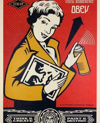 Shepard FAIREY (né en 1970) PROPAGANDA SPRAYING SERVICES Lithographie Signée et …