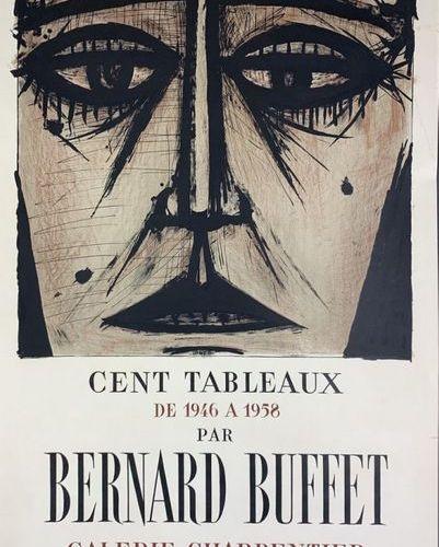 "BUFFET Bernard DUBUFFET Jean et CHAISSAC Gaston (3 posters) ""CENT TABLEAUX"" ""LE …"