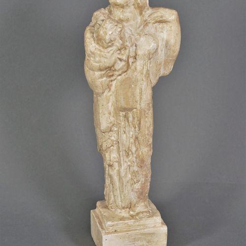 Charles Alexandre MALFRAY (1887 1940) Femme drapée à l'antique. Plâtre patiné si…