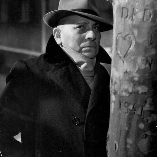 PORTRAIT D'UN ASSASSIN Erich von Stroheim, film de Bernard Roland, 1949. Photogr…