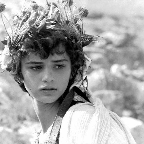 IPHIGÉNIE Tatiana Papamoskou, film de Michael Cacoyannis, 1977. Photographie de …
