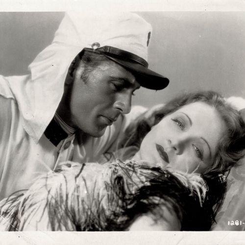 CŒURS BRULÉS MOROCCO Marlene Dietrich et Gary Cooper, film de Josef von Sternber…