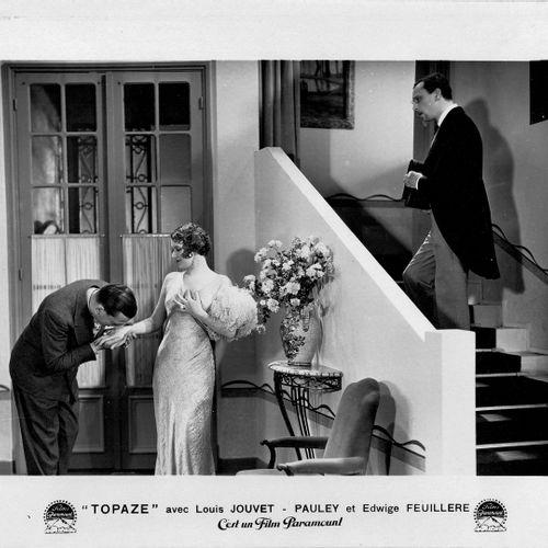 Topaze Louis Jouvet et Edwige Feuillère, film de Louis Gasnier, 1933. Photograph…