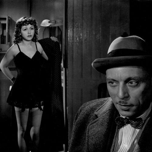 QUAI DES ORFEVRES Louis Jouvet et Suzy Delair, film d'Henri Georges Clouzot, 194…