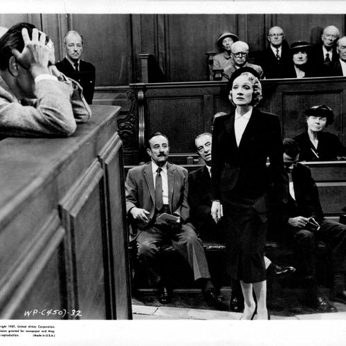 TEMOIN A CHARGE WITNESS FOR THE PROSECUTION Marlene Dietrich, film de Billy Wild…
