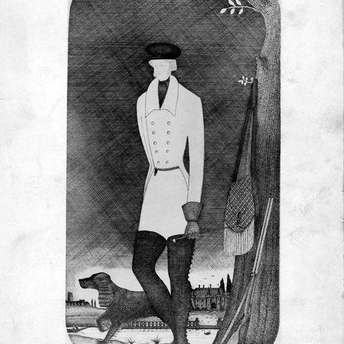 SYLVIE ET LE FANTÔME Dessin du costume du fantôme du jeune chasseur (réalisé par…