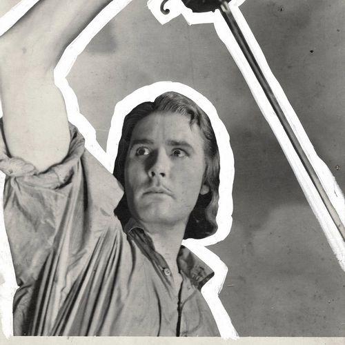 CAPITAINE BLOOD Errol Flynn, film de Michael Curtiz, 1935. Photographie de ciném…