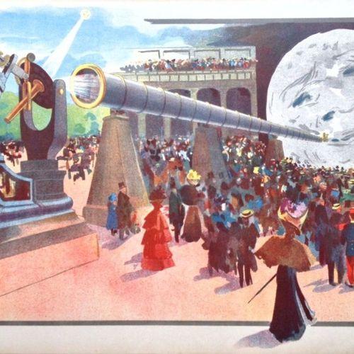 """ABEL TRUCHET Louis (1857 1918) EXPOSITION UNIVERSELLE DE 1900 """"LA LUNE À UN MÈTR…"""