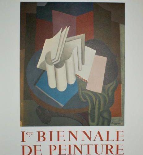 """LAFRESNAYE HÔTEL DE VILLE de PUTEAUX.""""Iere BIENNALE DE PEINTURE"""".1966 Imp.Mourlo…"""