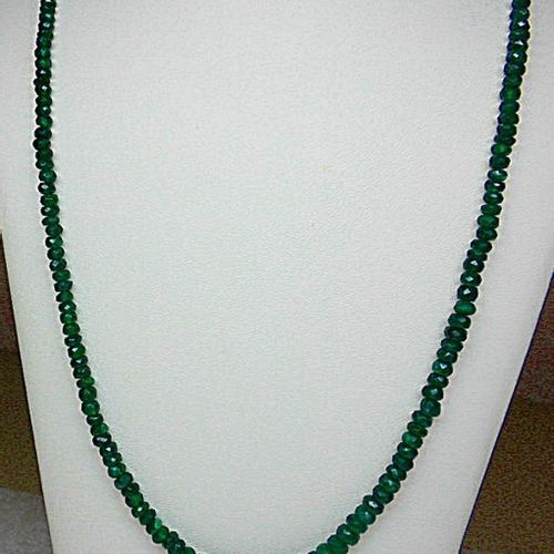 Very beautiful and very rare, a beautifully colored emerald drop necklace weighi…