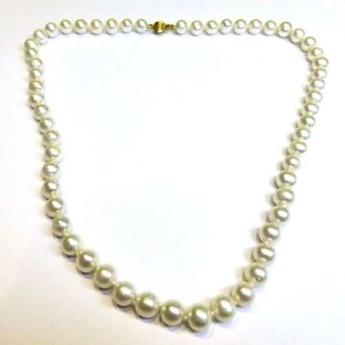 Very nice necklace in cultured pearls diameter 7 7,5 mm, very nice luster, safet…