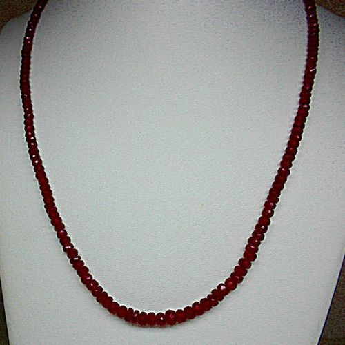 Very beautiful and very rare, a falling ruby necklace weighing 65 c. Approx gold…