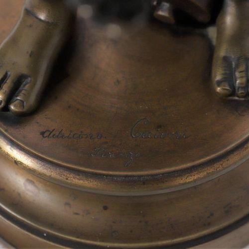 """BRONZE """"lLE PETIT CRIEUR AU COQ"""" OF ADRICINO CECIONI (c.1836 1886)    Bronze gro…"""