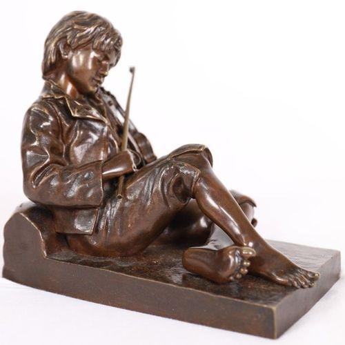 "BRONZE ""LE PETIT VIOLONISTE ENDORMI"" by Léon THAREL (1858 1902)  Very nice small…"