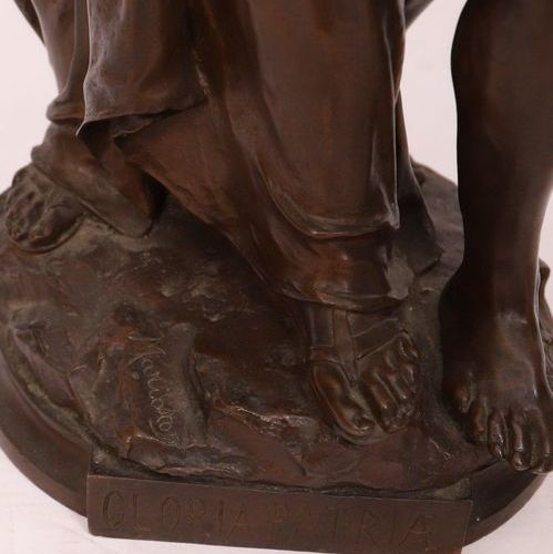 """BRONZE """"GLORIA PATRIAE"""" by Eugene MARIOTON (1854 1933)  Large group with two fig…"""