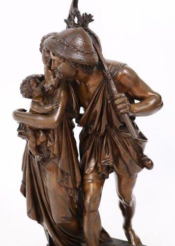 """BRONZE """"LE RETOUR DES CHAMPS"""" by Henry Étienne DUMAIGE (1830 1888)  Very nice gr…"""
