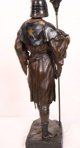 """BRONZE """"LE BALADEUR OU CHEVALIER DE L'ETOILE"""" by Emile Louis PICAULT (1833 1915)…"""