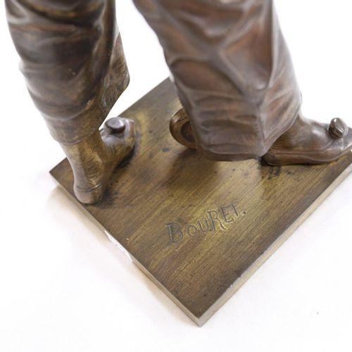 "BRONZE ""AU CLAIR DE LUNE"" OF Eutrope BOURET (1833 1906)  Nice patinated bronze s…"