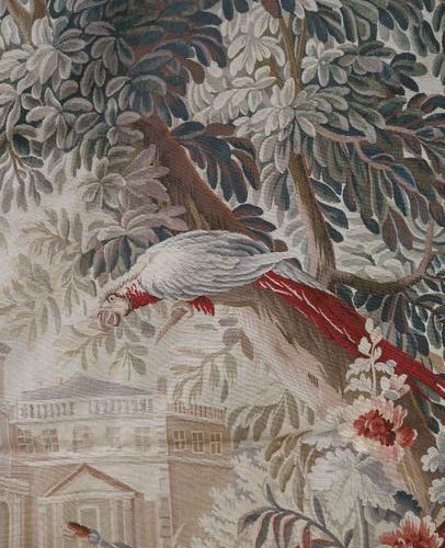 AUBUSSON Exceptional and important wool and silk tapestry representing a hunting…