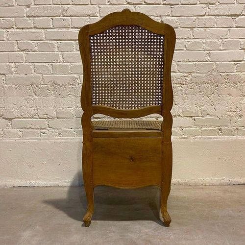 VERY NICE REGENCY CHAIR in moulded and carved wood with decoration of flowered b…