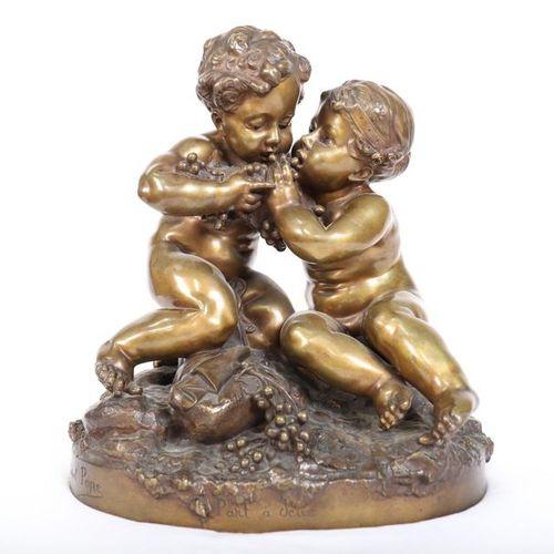 "VERY BEAUTIFUL BRONZE ""PART A DEUX"" BY Raphaël Charles PEYRE (1872 1949)  Nice p…"