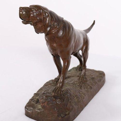 """Léon BUREAU (1866 1906)  """"Barking hound hound of the hunt.""""  Bronze with a beaut…"""