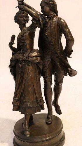 """BRONZE """"LA DANSE"""" by Henri Honoré PLÉ (1853 1922)  Nice bronze representing a yo…"""