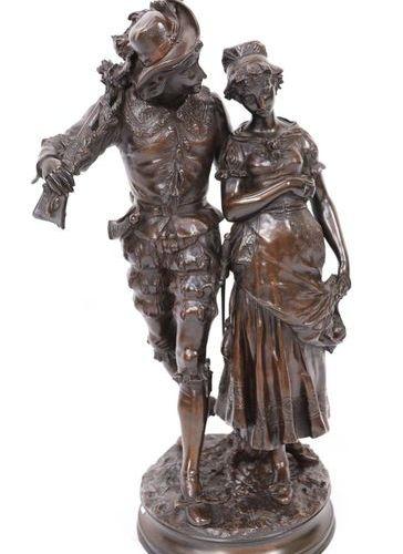 "IMPORTANT AND PRETTY BRONZE ""LE GALANT CHASSEUR"" by Adrien Etienne GAUDEZ (1845 …"