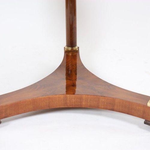 EMPIRE MAHOGANY GUERIDON  In mahogany and mahogany veneer and gilded bronze, wit…